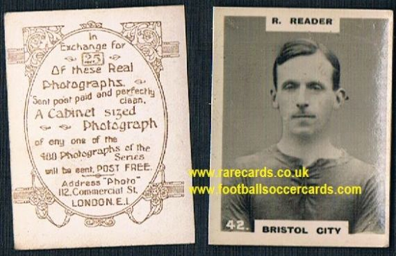 1919 pinnace brown oval back Bristol City Reader 42